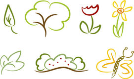 Set of nature icons/symbols Stock Photo