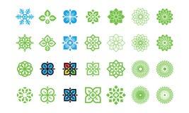 Set of Nature leaf logo, environment logo , ecology logo template designs, Lotus Wellness Logo Design Template Element stock illustration