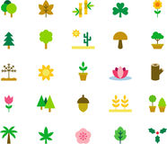 Set of nature related web icons Stock Photography