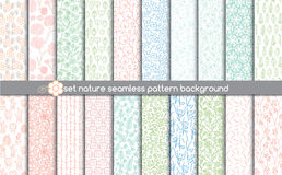 Set nature seamless patterns.pattern swatches included for illustrator user, Stock Photography