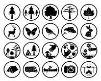 Set of nature signs Stock Photography
