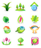 Set of nature vector icons Royalty Free Stock Photography