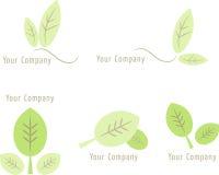 Set Naturikonen: Blätter (ii) Stockbild