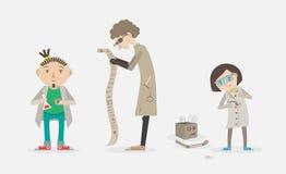 Set naukowowie Royalty Ilustracja