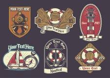 Set of nautical badge royalty free illustration