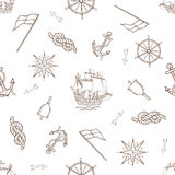 Set of nautical design elements Stock Photo