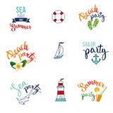 Set with nautical elements Stock Image