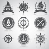 Set of nautical emblems, Royalty Free Stock Images