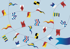 Set of nautical flags. Royalty Free Stock Images