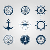 Set of nautical labels icons logo symbol and design elements Stock Photography