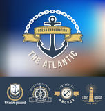 Set of nautical Logo Template Royalty Free Stock Photography