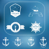 Set of nautical and maritime adventure vector Royalty Free Stock Images