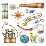 Set of nautical objects. Royalty Free Stock Photography