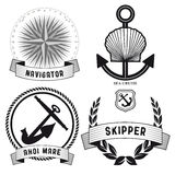 Set of nautical signs Royalty Free Stock Images