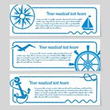 Set of nautical themed banners Royalty Free Stock Photography