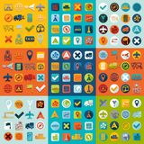 Set of navigation icons Royalty Free Stock Photos