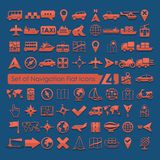 Set of navigation icons Royalty Free Stock Photo