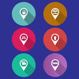 Set of navigation icons Stock Photography