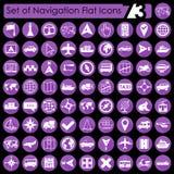 Set of navigation icons Stock Photography