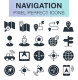 Set of navigation icons. Pixel perfect trendy icons for mobile apps and web design Stock Photo