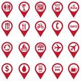 Set of navigation icons Royalty Free Stock Photos