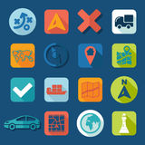 Set of navigation icons Royalty Free Stock Images