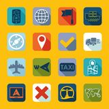 Set of navigation icons Royalty Free Stock Photography