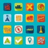 Set of navigation icons Stock Photo