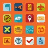Set of navigation icons Stock Image