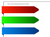 Set of navigation items Royalty Free Stock Image
