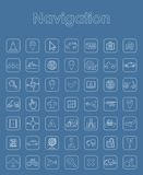 Set of navigation simple icons Royalty Free Stock Images