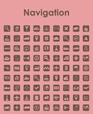 Set of navigation simple icons Royalty Free Stock Photography