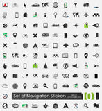 Set of navigation stickers Royalty Free Stock Photo