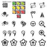 Set of navigational icons. Silhouette Royalty Free Stock Images