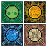 Set of navigational instruments. Navigational instruments - in the style of steampunk on an abstract background Royalty Free Stock Image