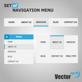 Set nawigacja menu Zdjęcia Stock