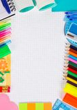 Set of necessary office supply for school. Or office Stock Photo