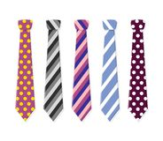 Set neck ties for business and casual attire. Royalty Free Stock Photo