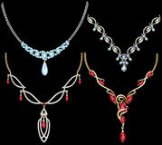 Set of necklace women Royalty Free Stock Photography