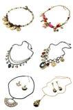 A set of necklaces Stock Photos
