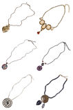 A set of necklaces Royalty Free Stock Image