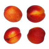 Set nectarine fruit isolated on white Royalty Free Stock Photo