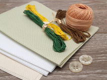 Set of needlework Stock Photo