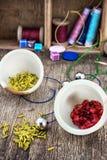 Set for needlework beaded Royalty Free Stock Photo