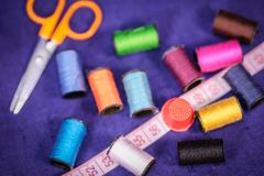 Set of needlework tools Royalty Free Stock Image