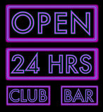 Set of Neon Signs Stock Images