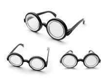 Set of nerd glasses Stock Photos
