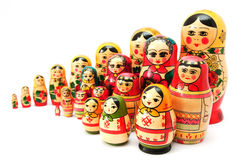 Set of nesting dolls Royalty Free Stock Images