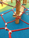 Set of net crawl constructions on kids playground Royalty Free Stock Image