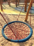 Set of net crawl constructions on kids playground Royalty Free Stock Photography